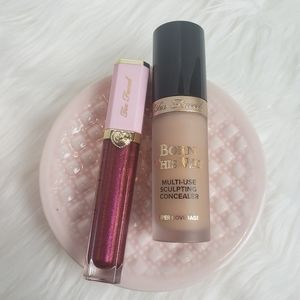Bundle Too Faced Concealer sand shape & lipstick